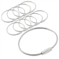 Stainless Steel Wire Keychain Cable Ring 10pk