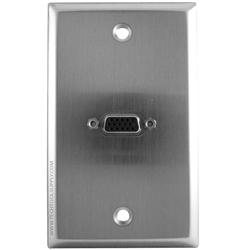 1x SVGA Stainless Steel Wallplate