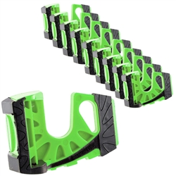 10-Pack Wedge-It Ultimate Door Stop - Green