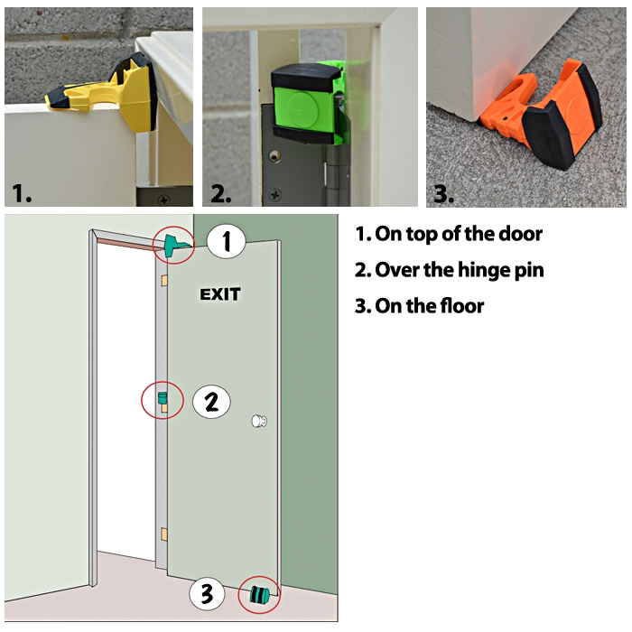 Lime Green Wedge-It WEDGE-IT-1 The Ultimate Door Stop